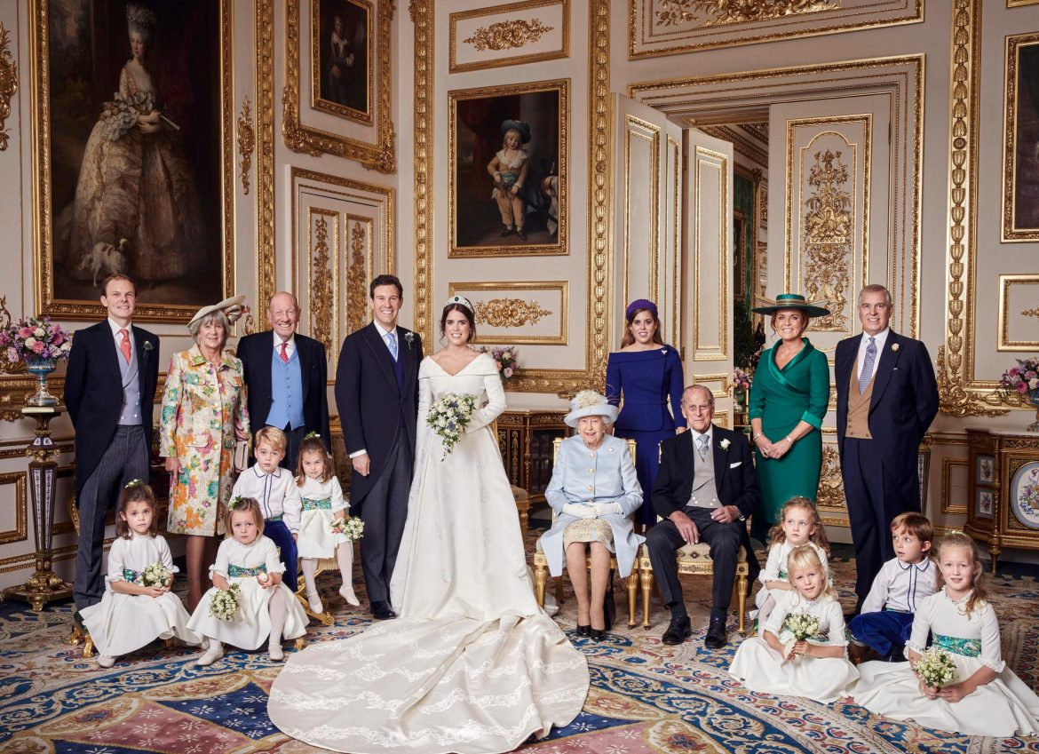 Sarah Ferguson reacts to her wedding to Prince Andrew