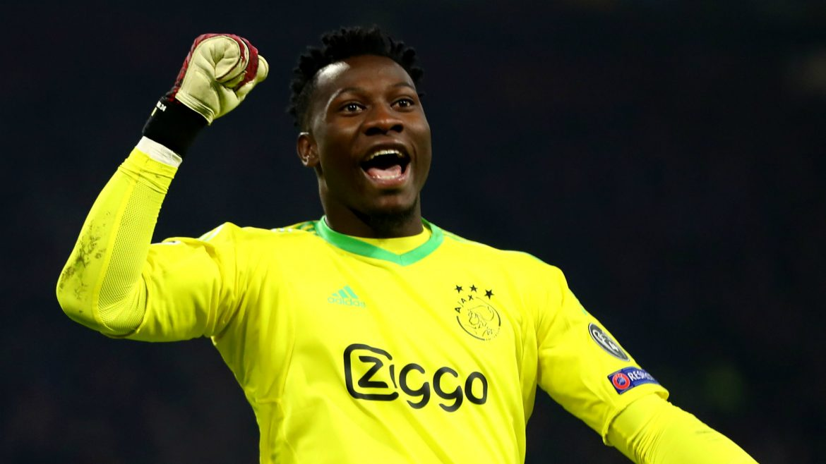 Ajax stars wear Andre Onana shirts in support of banned keeper