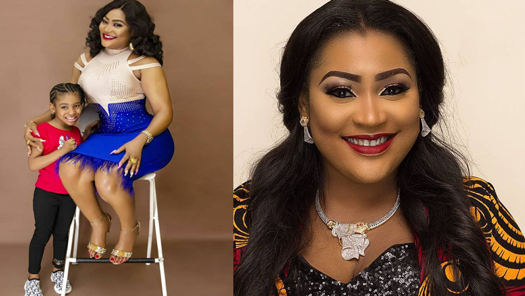 Actress, Uche Elendu blasts troll who accused her of 'lying' about her daughter age