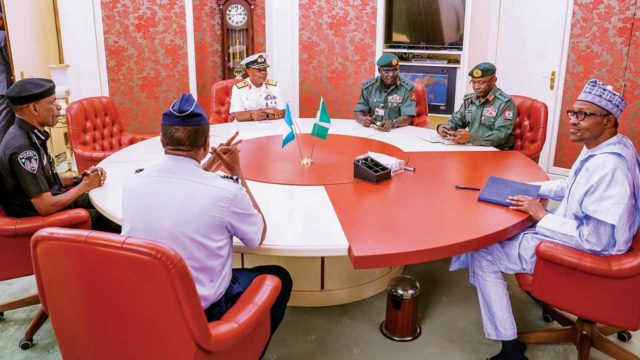 Buhari's first meeting with new Service Chiefs – Femi Adesina