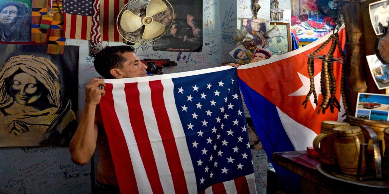 Cubans stage caravan to protest U.S. trade embargo, sanctions
