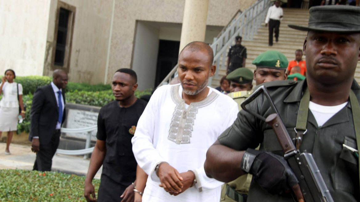 Nnamdi Kanu Pleads Not Guilty To FG's Amended Charges.