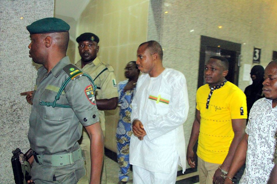 Nnamdi Kanu Brought To Court For Trial today.